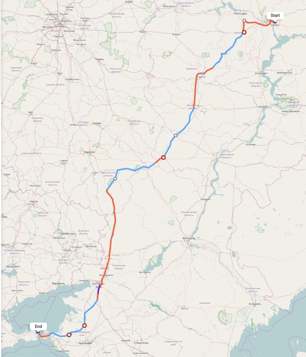 Переезд из Казани в Керчь