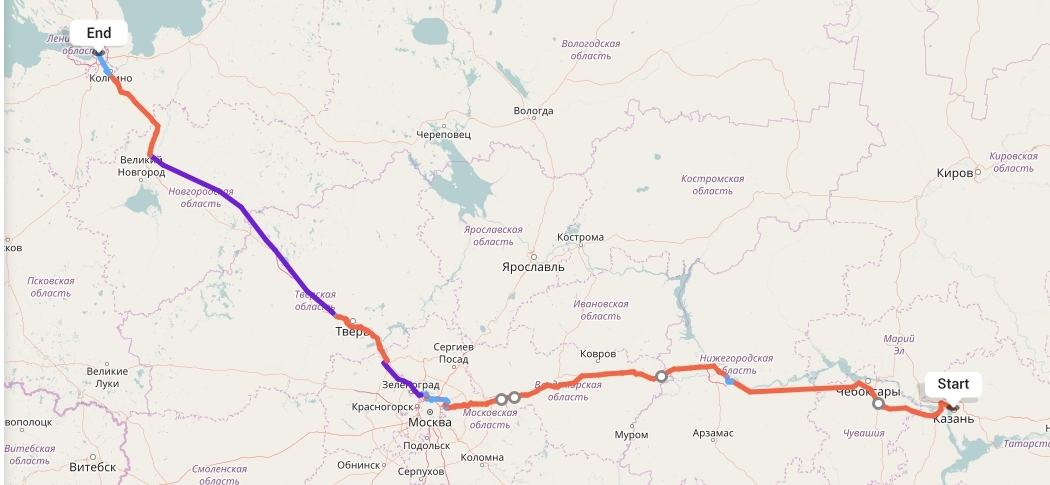 Переезд из Казани в Санкт-Петербург