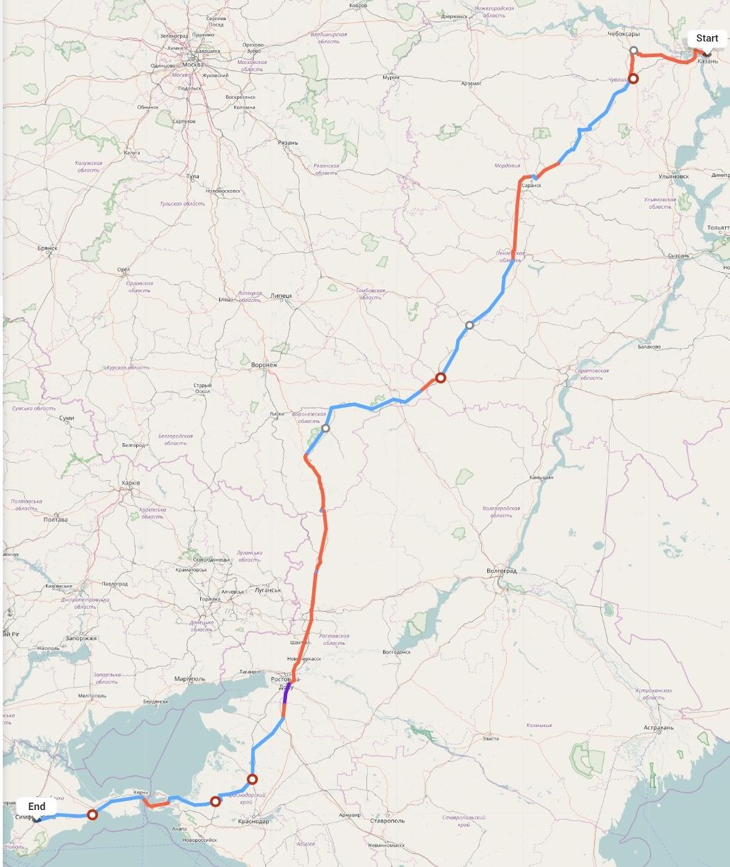 Переезд из Казани в Симферополь