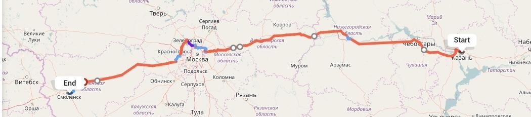 Переезд из Казани в Смоленск