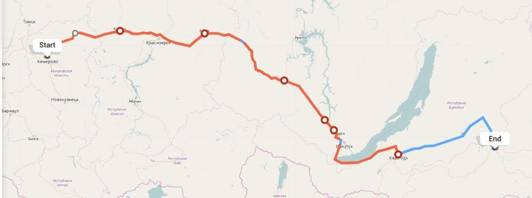 Переезд из Кемерово в Читу