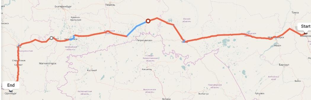 Переезд из Кемерово в Оренбург