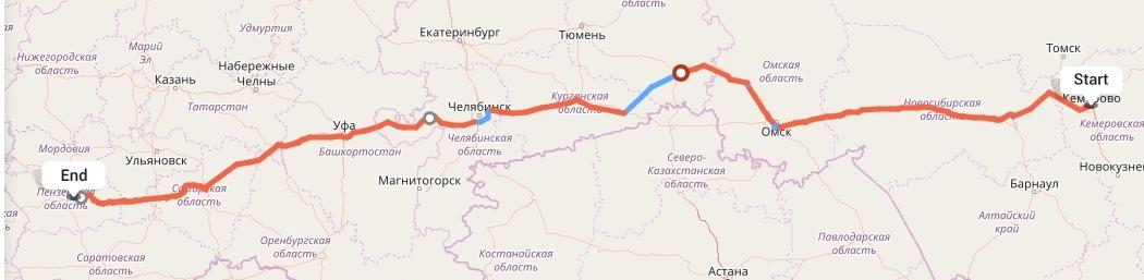 Переезд из Кемерово в Пензу