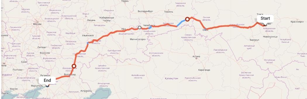 Переезд из Кемерово в Ростов-на-Дону