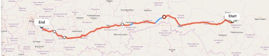 Переезд из Кемерово в Рязань