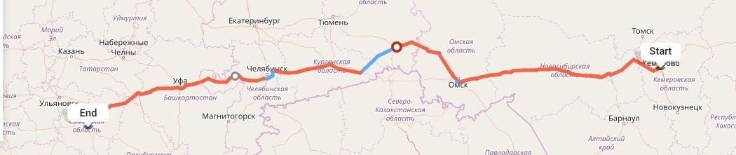 Переезд из Кемерово в Самару