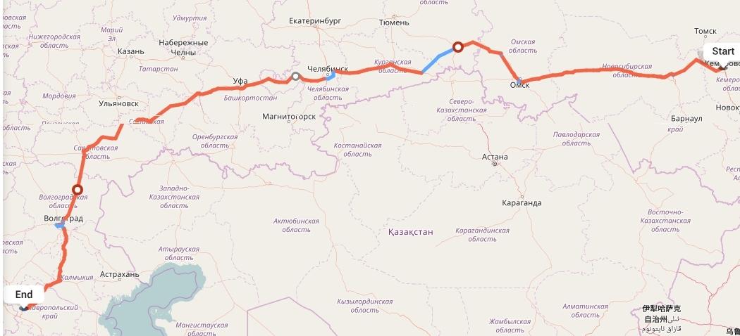 Переезд из Кемерово в Ставрополь