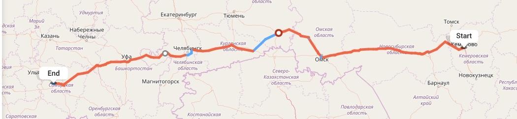 Переезд из Кемерово в Тольятти