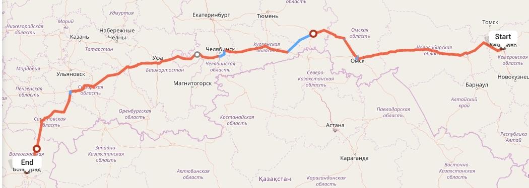 Переезд из Кемерово в Волгоград