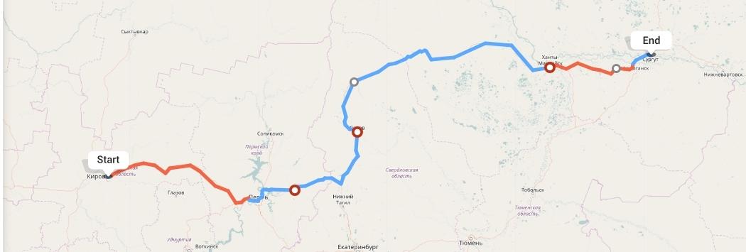 Переезд из Кирова в Сургут