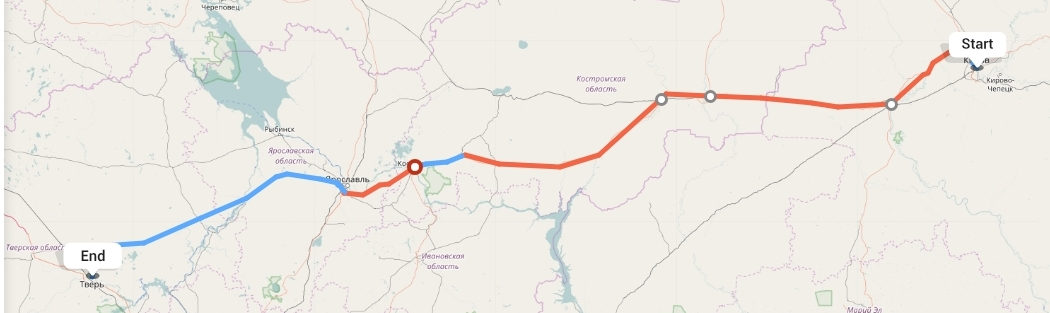 Переезд из Кирова в Тверь
