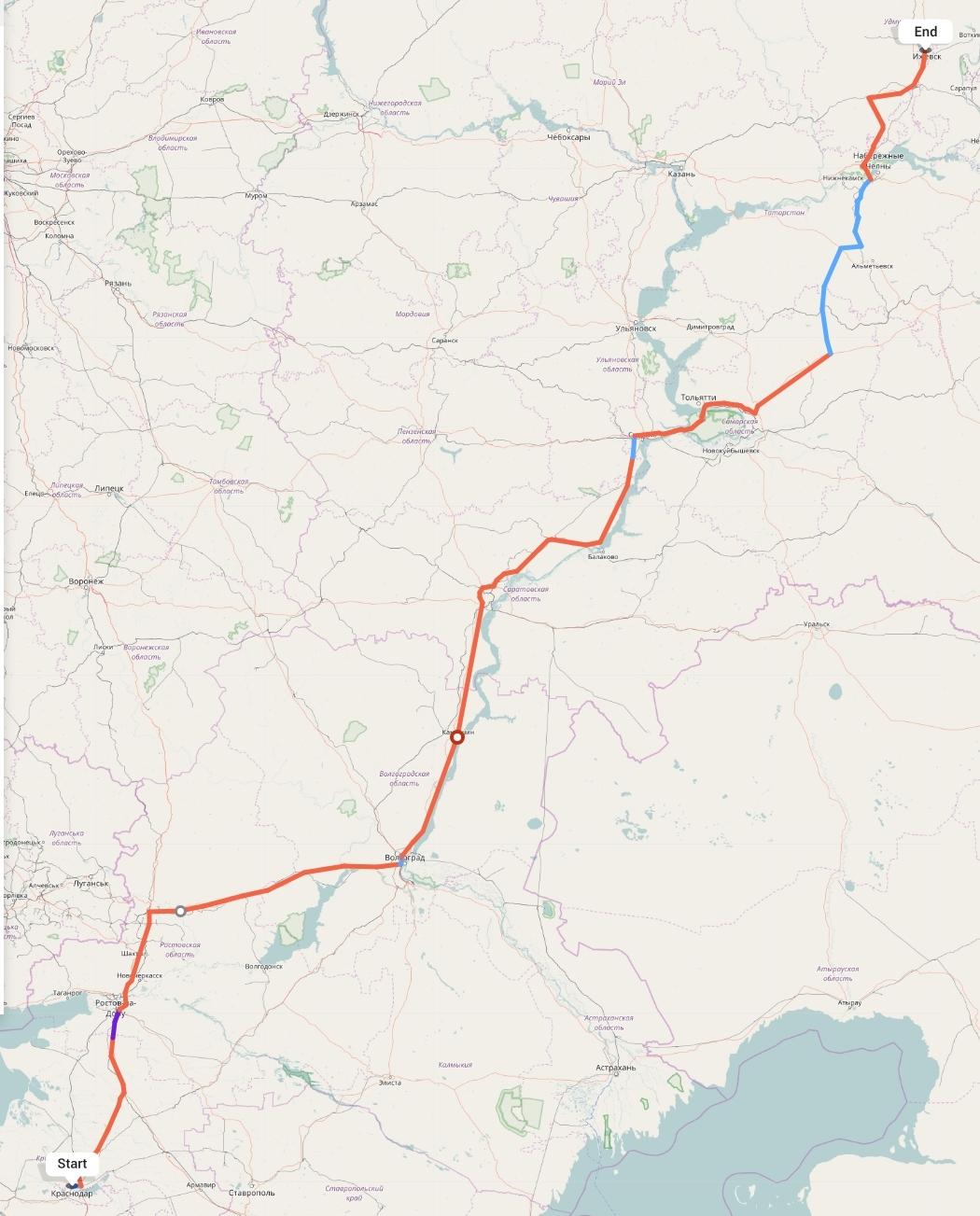 Переезд из Краснодара в Ижевск