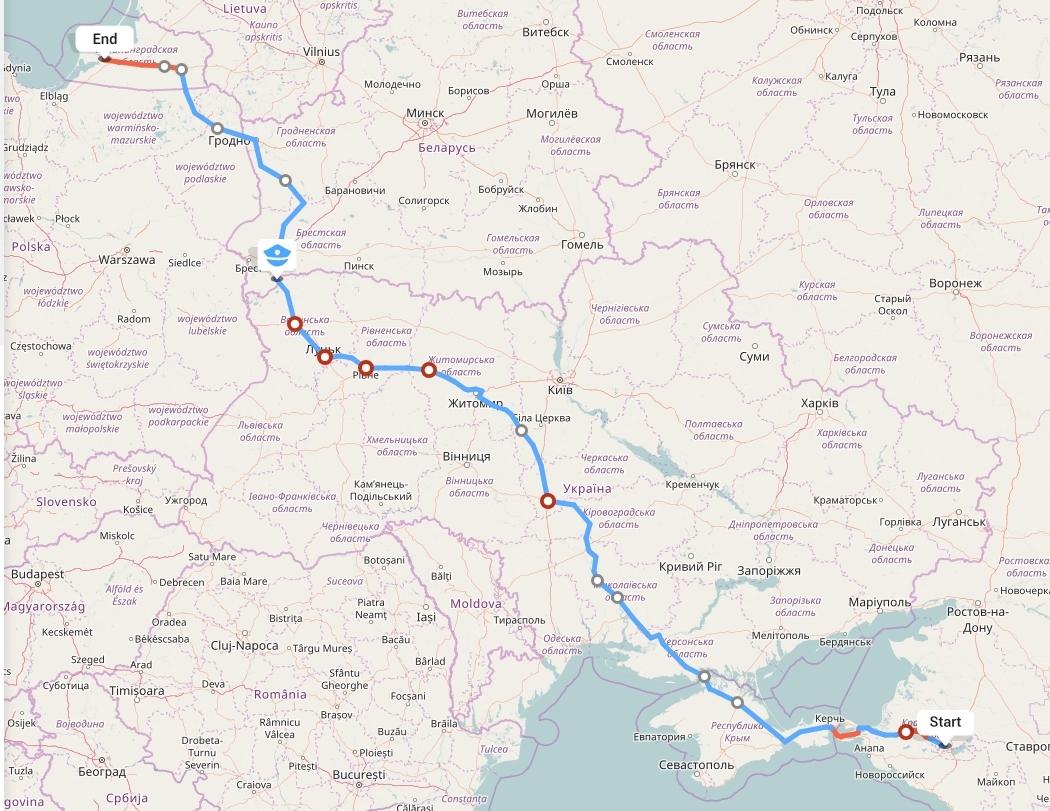 Переезд из Краснодара в Калининград