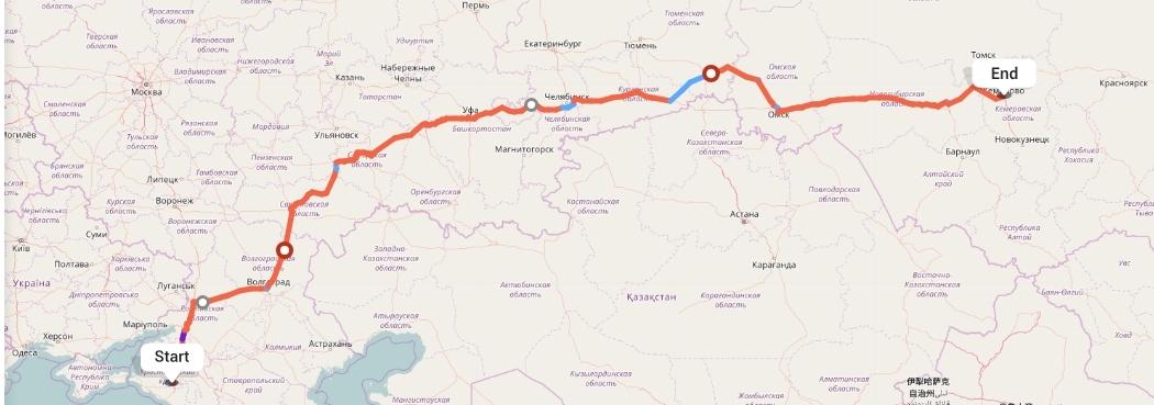 Переезд из Краснодара в Кемерово