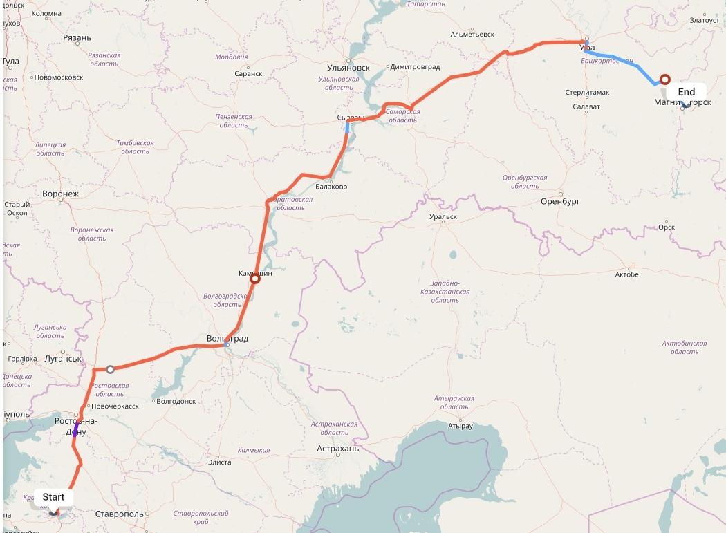 Переезд из Краснодара в Магнитогорск