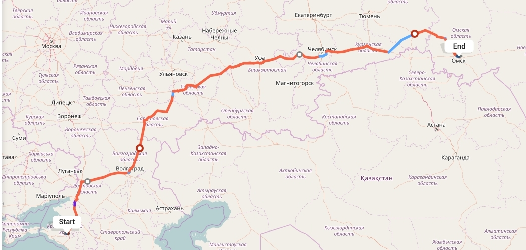 Переезд из Краснодара в Омск