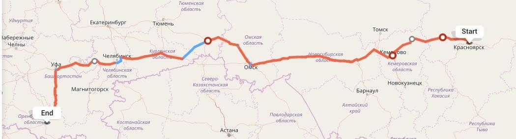 Переезд из Красноярска в Оренбург