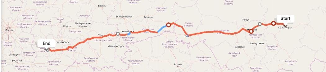 Переезд из Красноярска в Пензу
