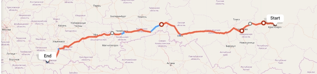 Переезд из Красноярска в Саратов