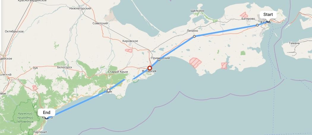 Переезд из Крыма в Алушту