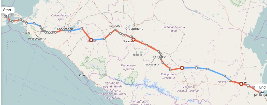 Переезд из Крыма в Махачкалу