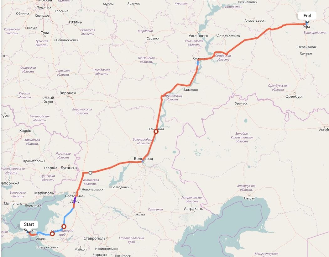 Переезд из Крыма в Уфу