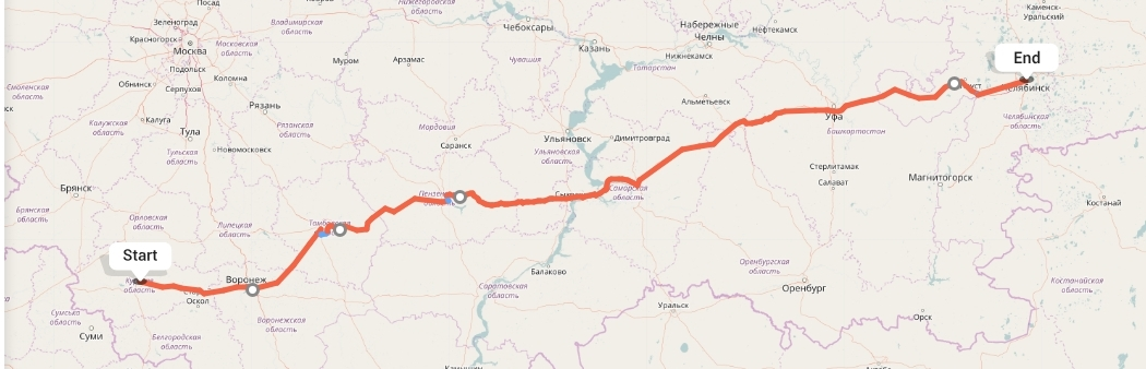 Переезд из Курска в Челябинск