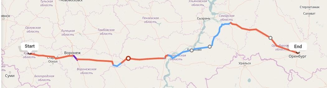 Переезд из Курска в Оренбург
