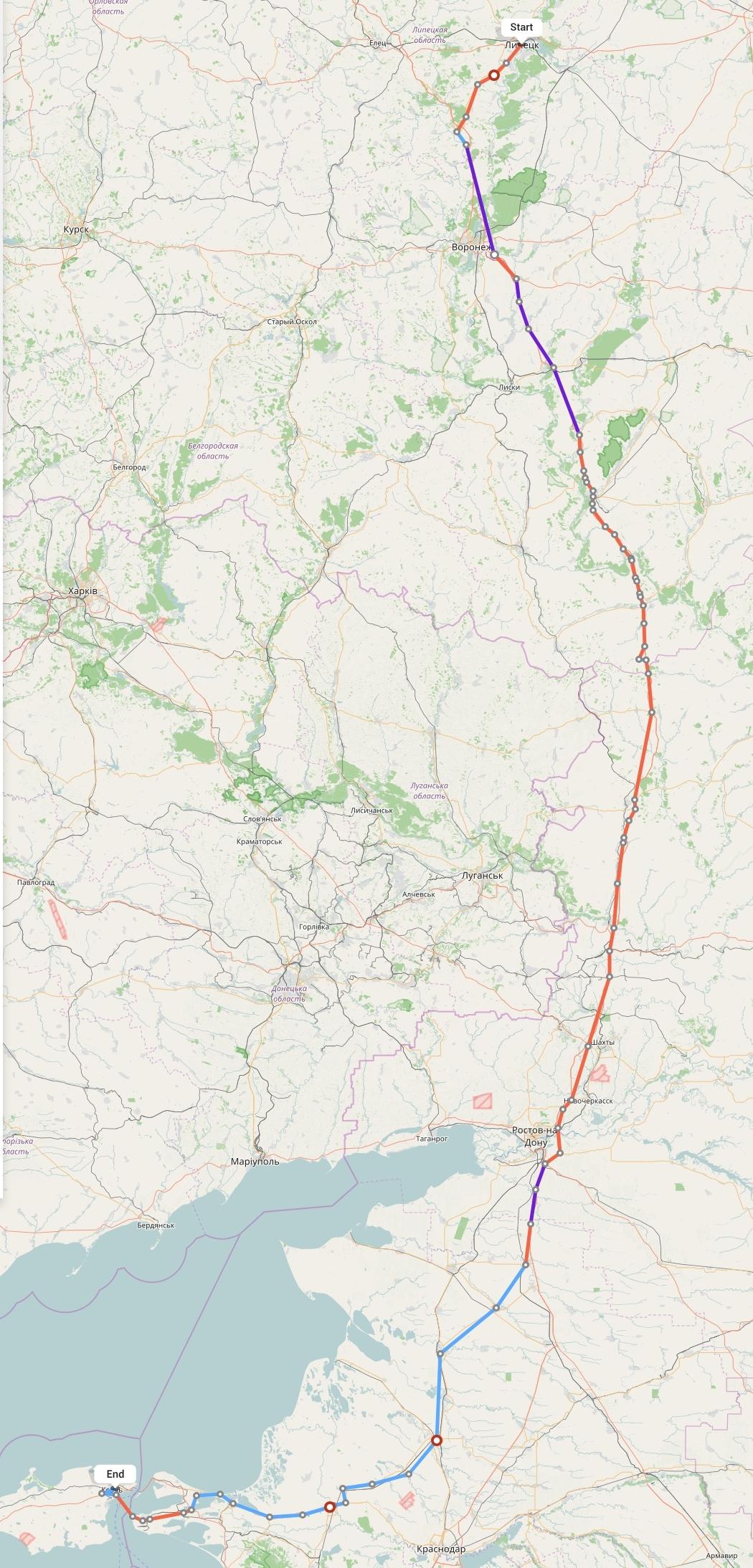 Переезд из Липецка в Крым