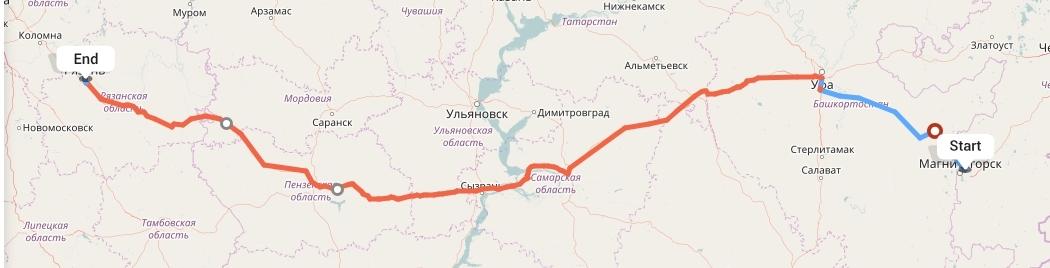 Переезд из Магнитогорска в Рязань