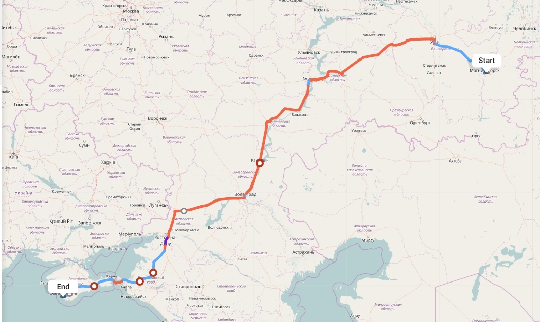 Переезд из Магнитогорска в Севастополь