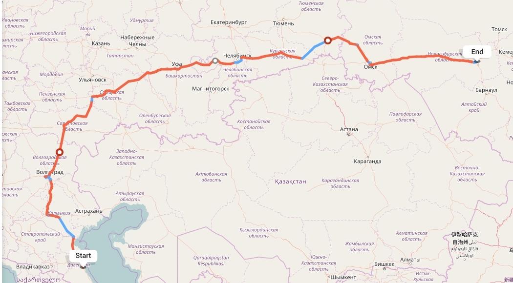Переезд из Махачкалы в Новосибирск