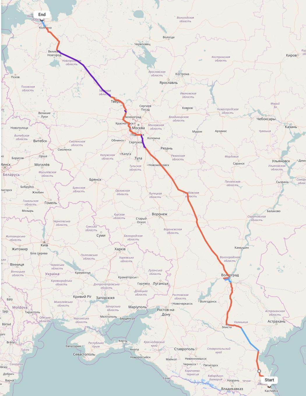 Переезд из Махачкалы в Санкт-Петербург