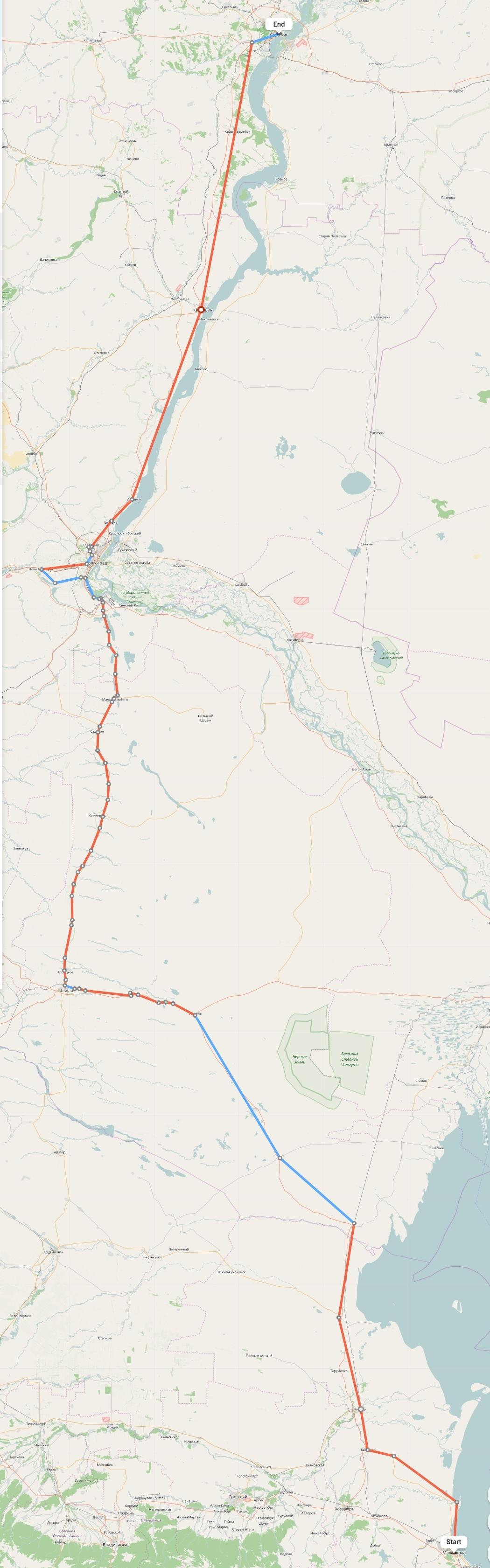 Переезд из Махачкалы в Саратов