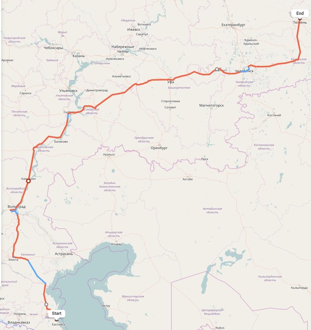 Переезд из Махачкалы в Тюмень