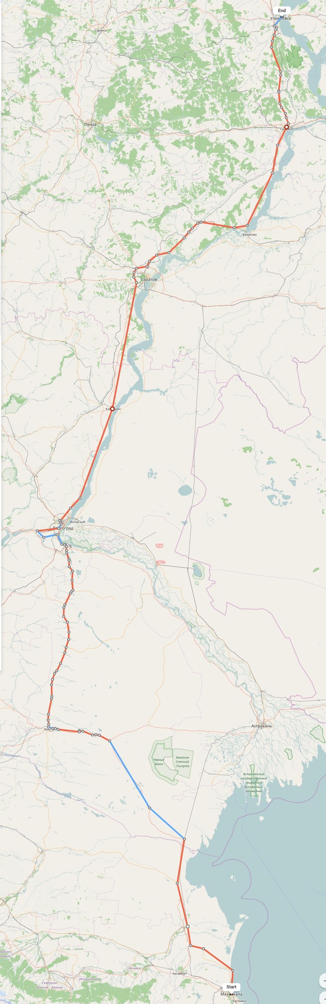 Переезд из Махачкалы в Ульяновск