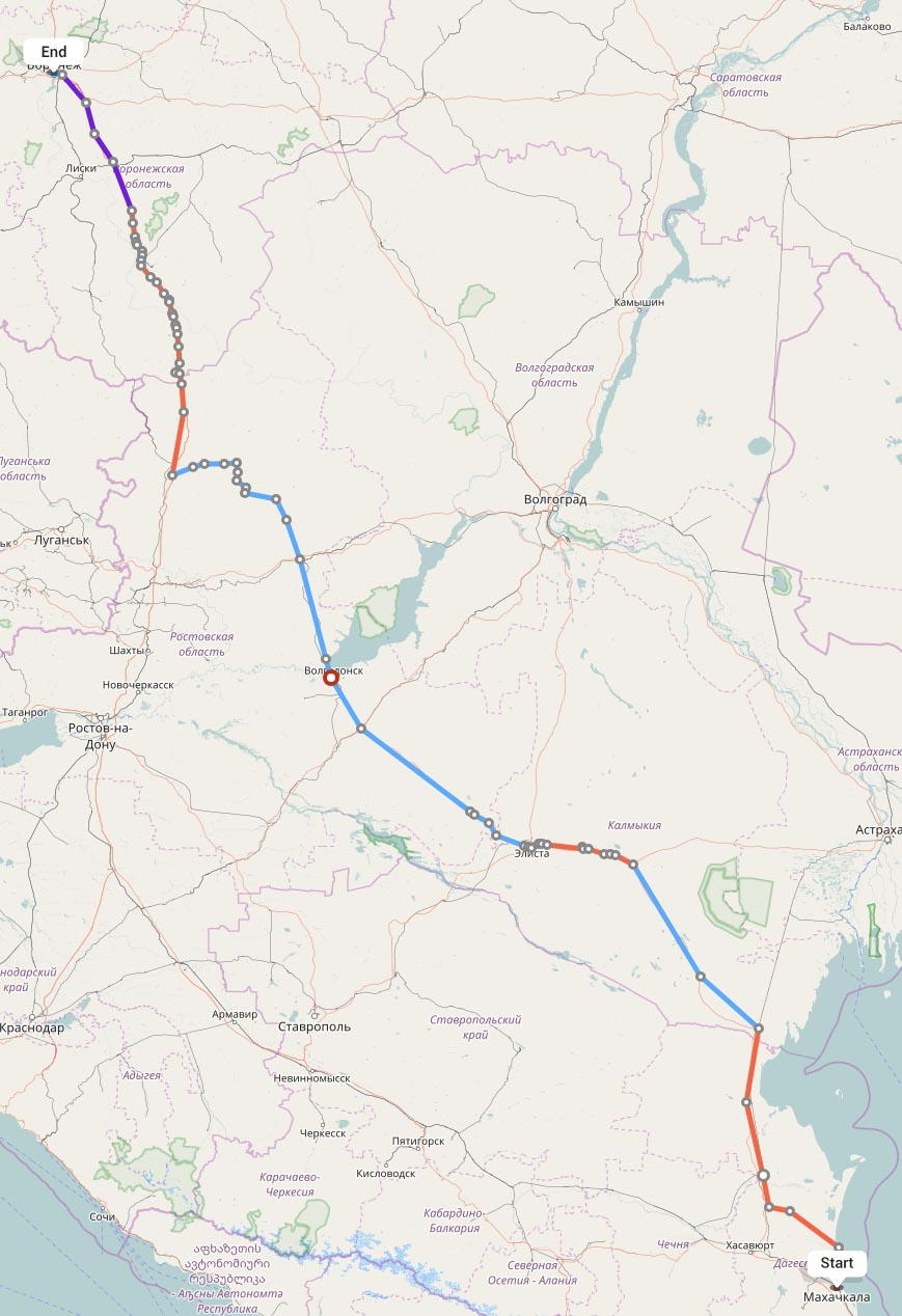 Переезд из Махачкалы в Воронеж