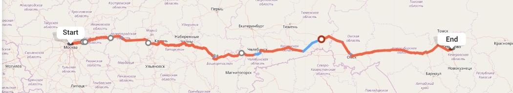 Переезд из Москвы в Кемерово
