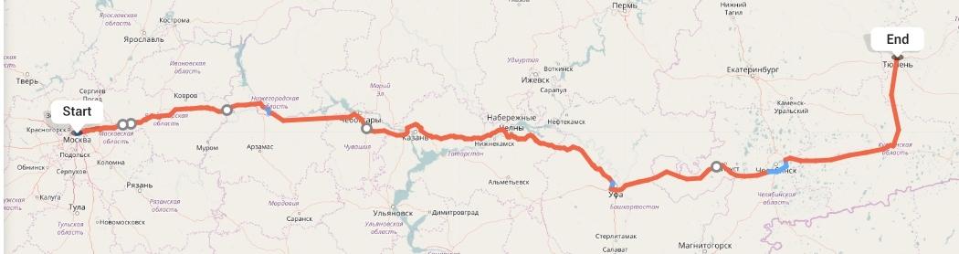 Переезд из Москвы в Тюмень