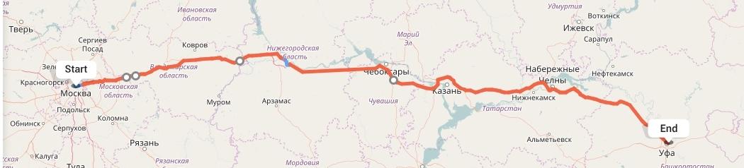 Переезд из Москвы в Уфу