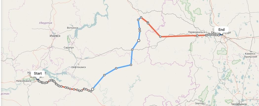 Переезд из Набережных Челнов в Екатеринбург