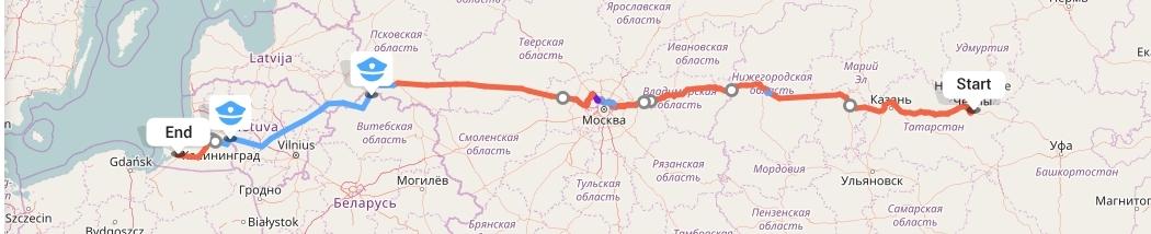 Переезд из Набережных Челнов в Калининград