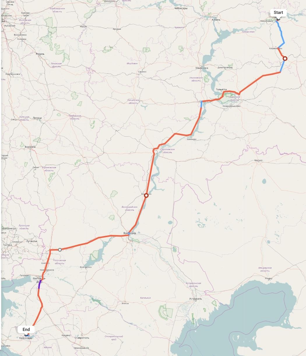 Переезд из Набережных Челнов в Краснодар