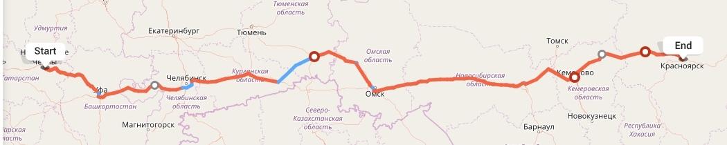 Переезд из Набережных Челнов в Красноярск