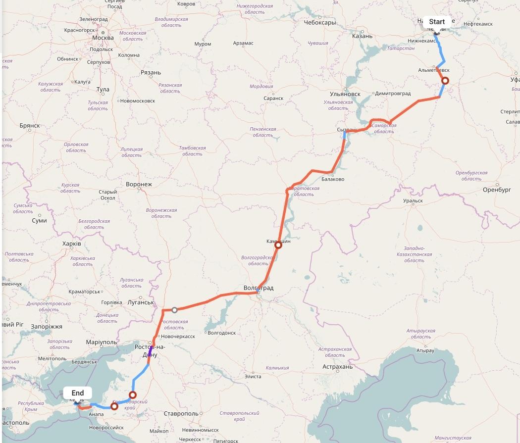 Переезд из Набережных Челнов в Крым