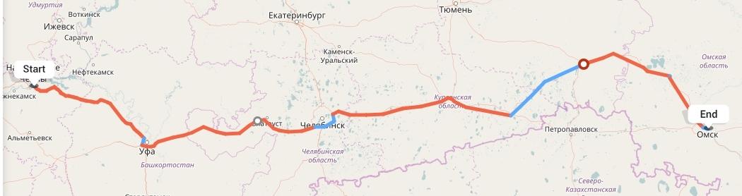 Переезд из Набережных Челнов в Омск