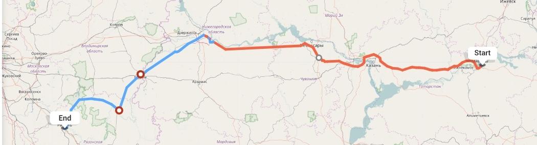 Переезд из Набережных Челнов в Рязань