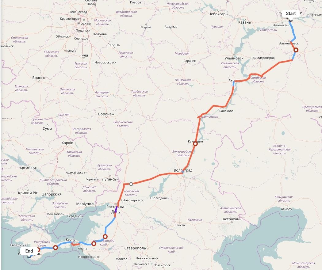 Переезд из Набережных Челнов в Севастополь
