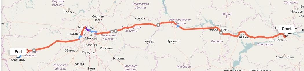 Переезд из Набережных Челнов в Смоленск