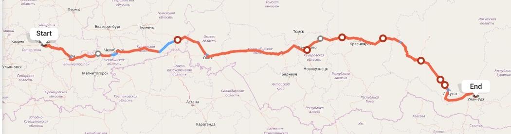 Переезд из Набережных Челнов в Улан-Удэ